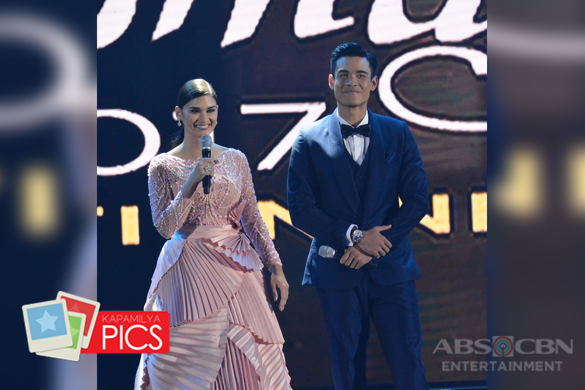 PHOTOS: Hosts Miss Universe 2015 Pia Wurtzbach & Xian Lim at the Binibining Pilipinas 2017 Coronatio