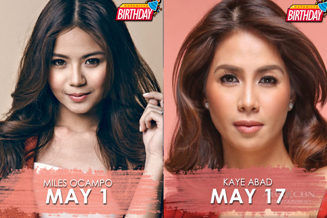 LOOK: Kapamilya stars who are celebrating birthdays this May