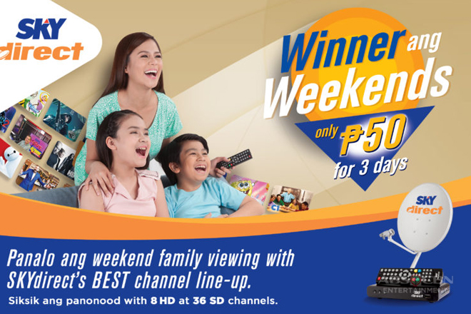 SKYdirect offers weekend family viewing at P50