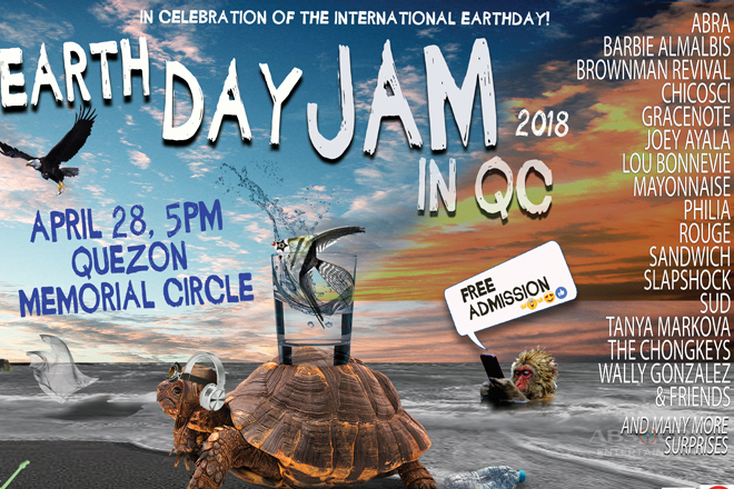 Earthdayjam 2018 Homecoming in QC on April 28
