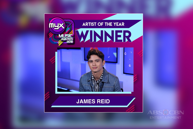 James Reid reaps major wins at the MYX Music Awards 2018