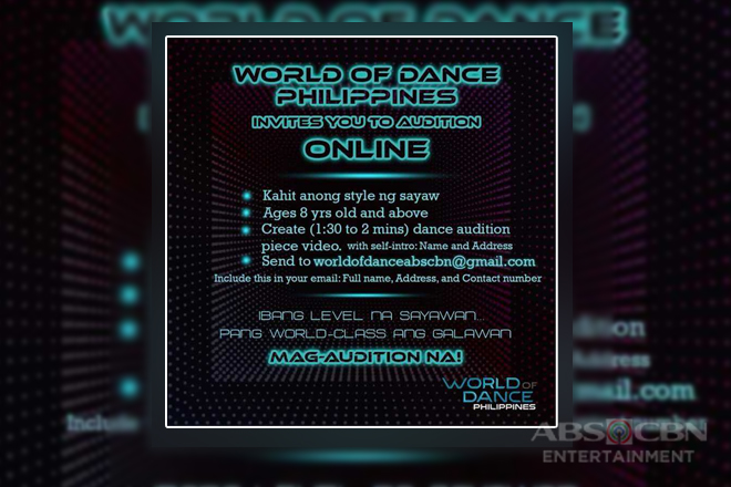 """World of Dance Philippines"" on the look out for the best dancers in the country"