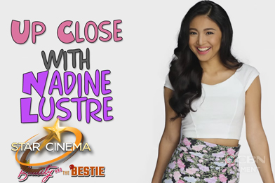 Up close with Nadine Lustre