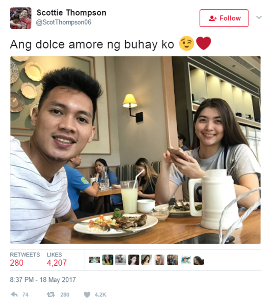 PBA player Scottie Thompson fanboys over Liza Soberano
