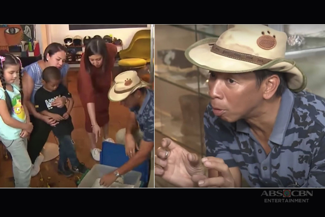 Kuya Kim teaches Carlo and Xia about hatching of turtle eggs