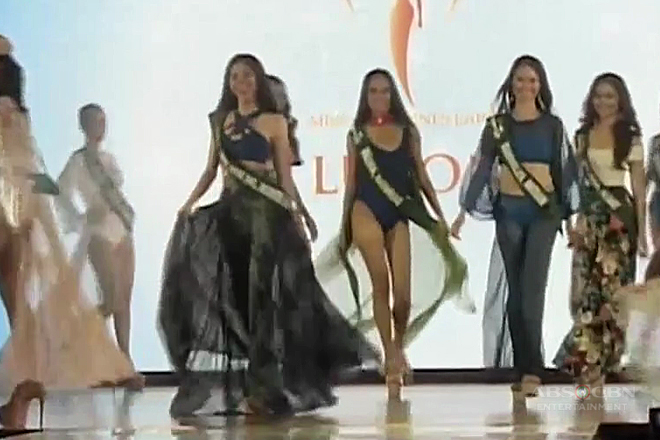 Ms. PH-Earth candidates, rumampa sa swimsuit competition