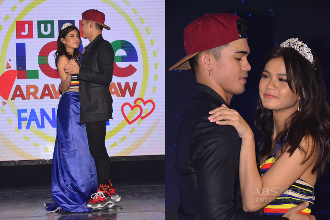 Maris and Inigo become Prom King and Queen at the Just Love Araw Araw Fan Meet
