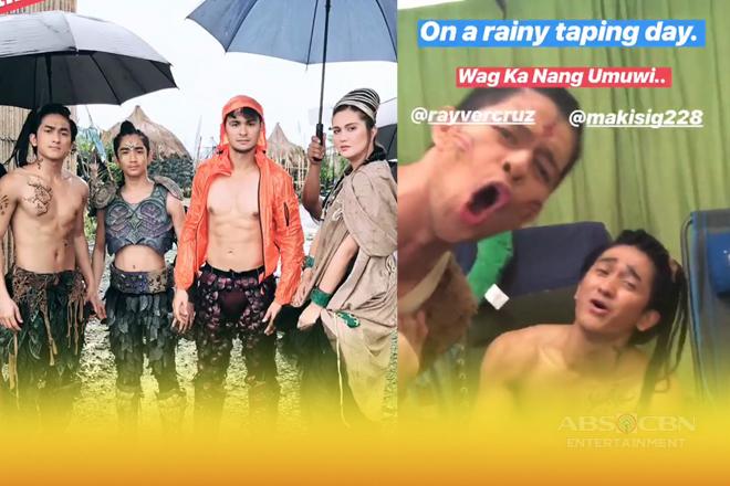 Cast ng Bagani, kwelang-kwela sa set kahit na masungit ang panahon!