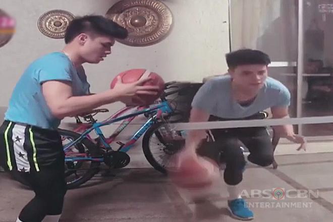 Ronnie Alonte, nagsasanay muli ng basketball matapos ang 'knee' injury