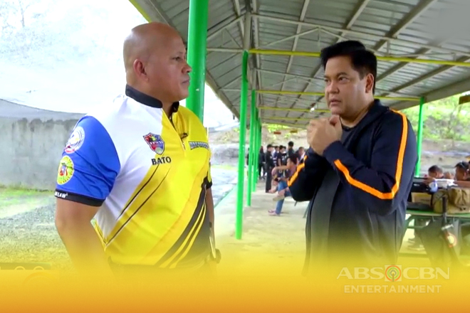 Concert King Martin Nievera gets shooting lessons from BuCor Chief Ronald dela Rosa