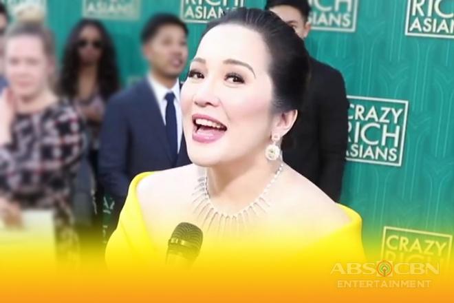 Kris Aquino, dumalo sa world premiere ng 'Crazy Rich Asians' sa US