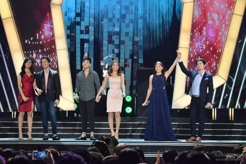 LOOK: Reigning top love teams KathNiel, LizQuen & JaDine join forces for The ABS-CBN Christmas 2015 Special