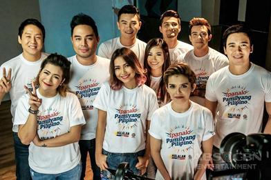 PHOTOS: ASAP stars record ABS-CBN Summer 2016 SID theme song 'Ipanalo Ang Pamilyang Pilipino'