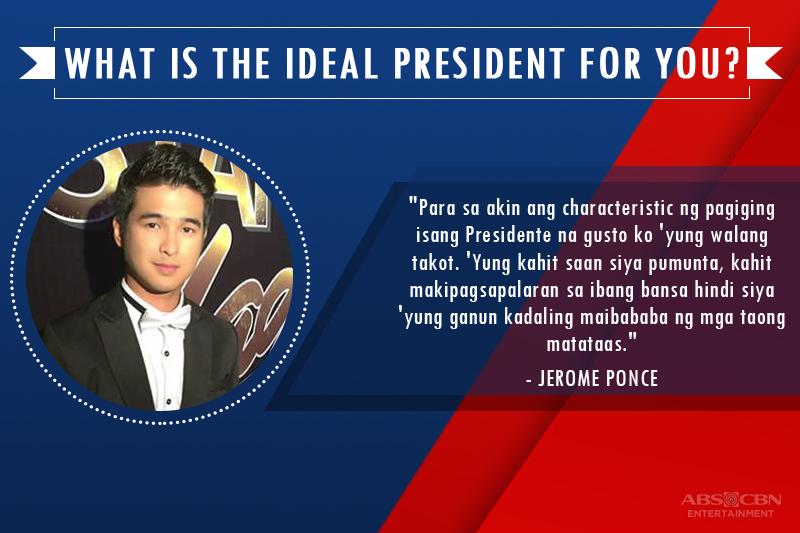 Ang ideal President para sa Kapamilya stars