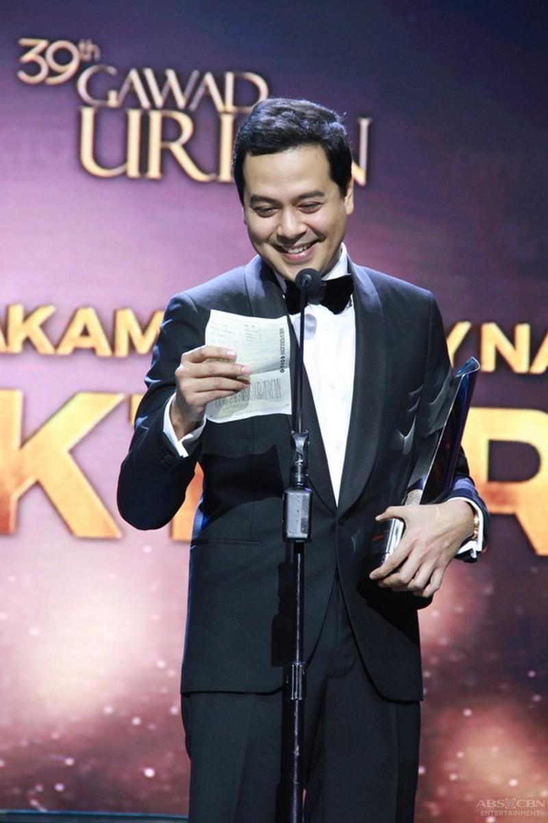 John Lloyd Cruz bags best actor award in the 39th Gawad Urian