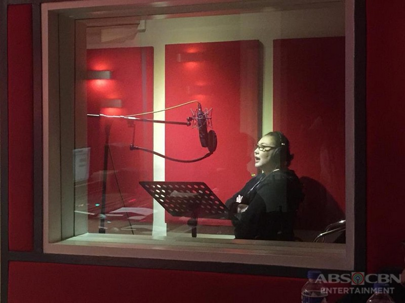 Sharon Cuneta records the official soundtrack of 'The Greatest Love'