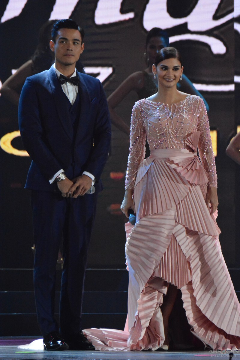 PHOTOS: Hosts Miss Universe 2015 Pia Wurtzbach & Xian Lim at the Binibining Pilipinas 2017 Coronation Night