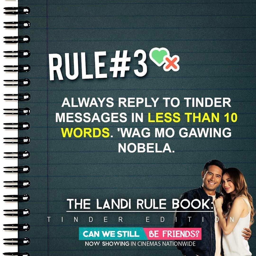 The Landi Rule Book: Tinder Edition