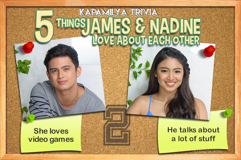 Kapamilya Trivia: 5 things James and Nadine love about each other