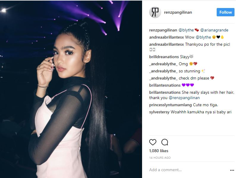 All the fabulous looks of the celebrities who attended Ariana Grande's concert