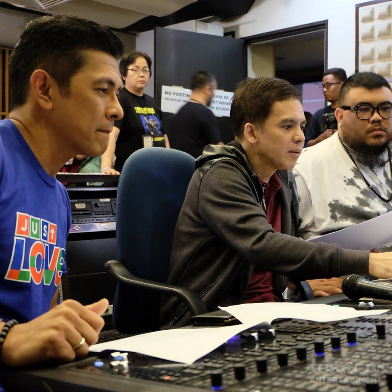 """Behind-the-scenes Photos: ABS-CBN Christmas Station ID 2017 """"Just Love Ngayong Christmas """" Recording Session"""