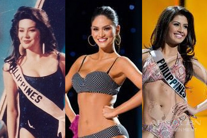 THROWBACK: Philippine Miss Universe delegates in their stunning swimsuits
