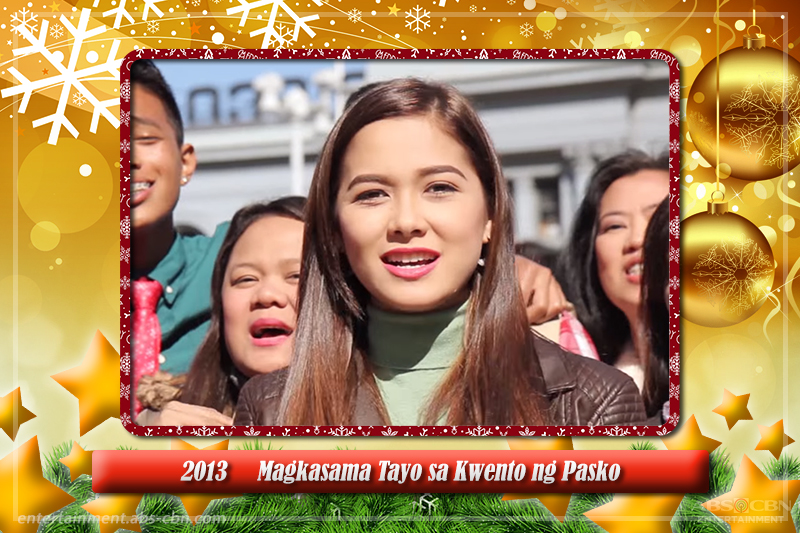 Maja Salvador's glittering yearly presence in ABS-CBN Christmas station IDs