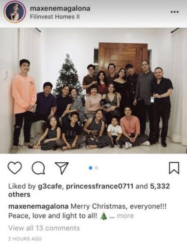 Mga paborito nating artista kasama ang kanilang pamilya ngayong pasko