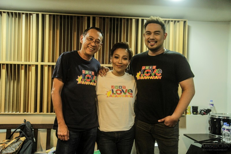 """IN PHOTOS: Kapamilya stars record theme song of ABS-CBN Summer SID 2018 """"Just Love Araw Araw"""""""