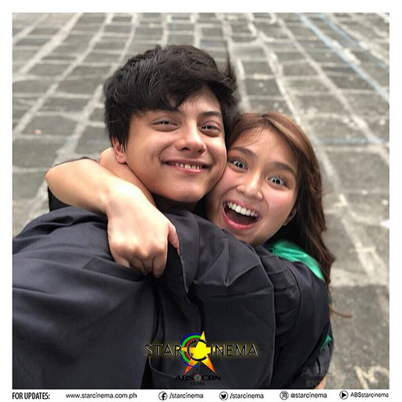 Look: Kathryn and Daniel filming for The Hows Of Us!