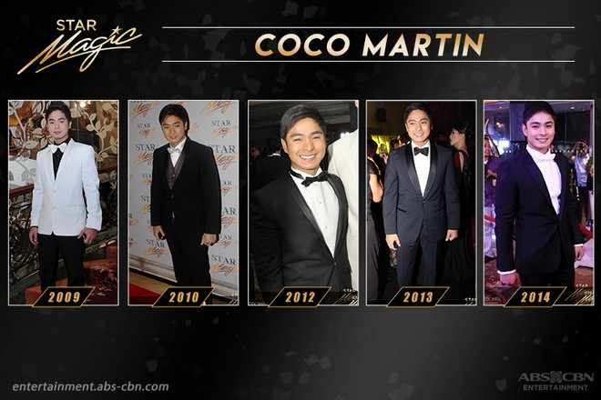Coco Martin's remarkable Star Magic Ball appearances through the years