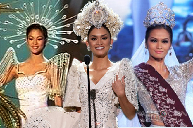 THROWBACK: National Costumes of PH Delegates at the Miss Universe Pageant
