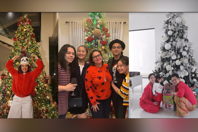 LOOK: Mga bonggang Christmas Trees ng mga sikat na celebrities!