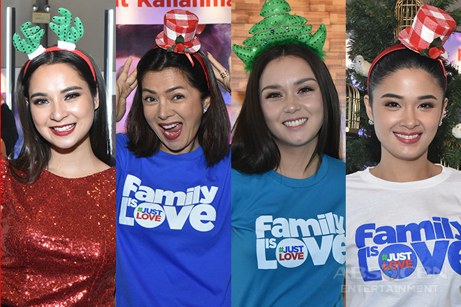 LOOK: Kapamilya celebrities in their merriest Christmas headbands