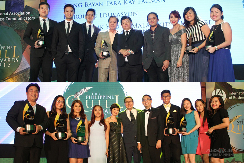 ABS CBN Most awarded Media Entertainment Company at the 14th Philippines Quill Awards 1