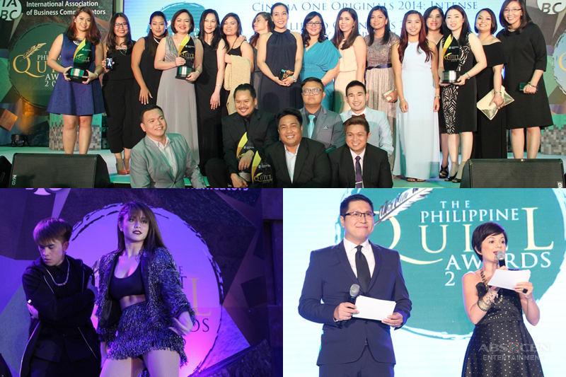 ABS CBN Most awarded Media Entertainment Company at the 14th Philippines Quill Awards 2