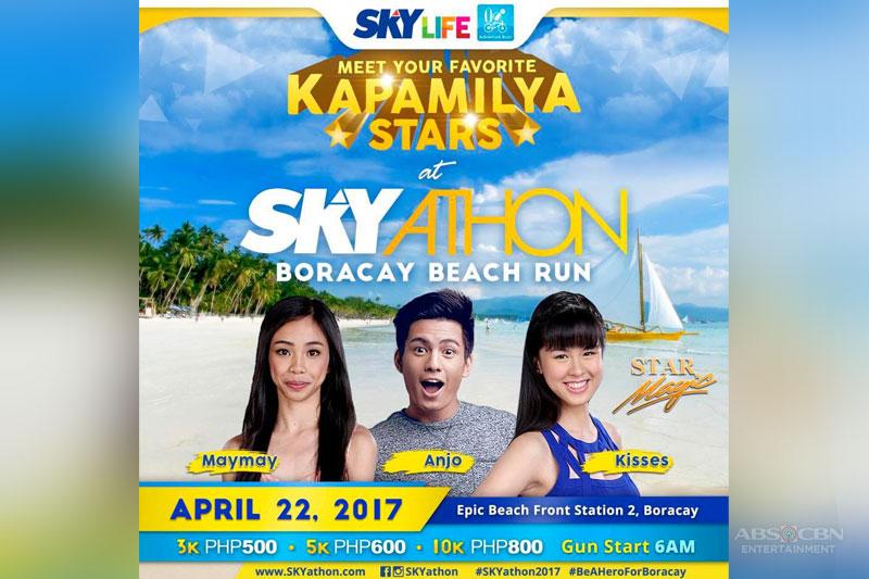 PBB Teens Maymay and Kisses join Skyathon Beach Run for coral rehab 1