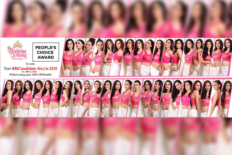 Help your favorite Bb Pilipinas candidate advance to the top 15 with ABS CBNmobile 1