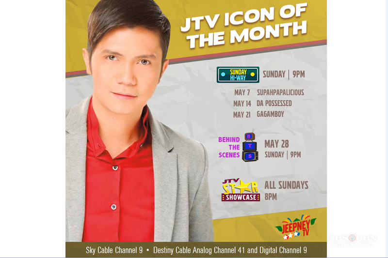 Vhong is Jeepney TV s Icon of the Month for May 1