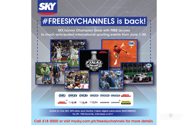 Sky brings back freeskychannels for sports fans for the month of June 1