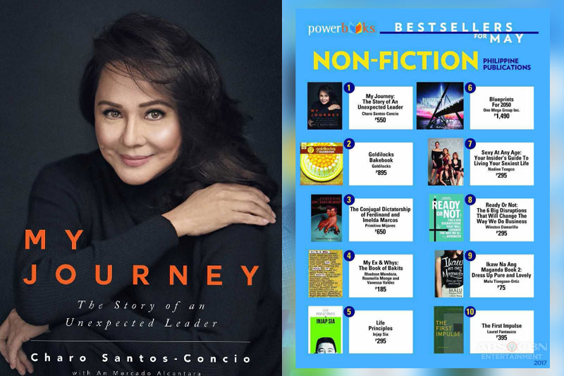Charo Santos Concio s book My Journery The Story Of An Unexpected Leader now a Certified Best Seller 1