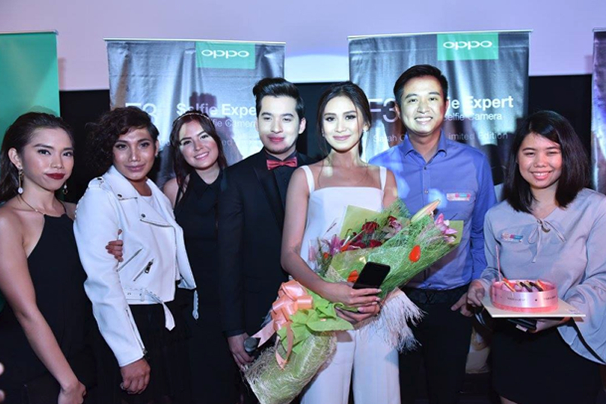 Sarah Geronimo marks 3rd year as OPPO's ambassador via special movie screening and with new F3 limited edition phone