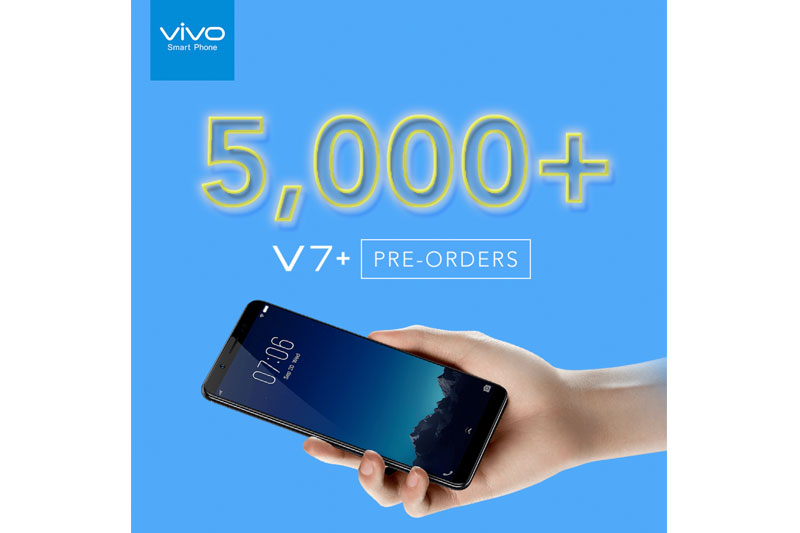 Vivo V7 is the most in demand selfie smartphone in the Philippines with over 5 000 units pre ordered in just one week 1