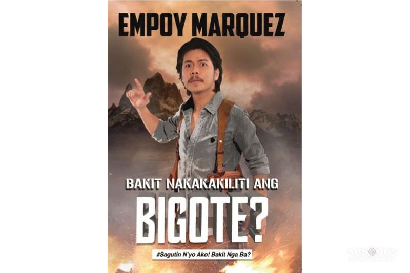 Empoy amuses readers in his book Bakit Nakakakiliti ang Bigote  1
