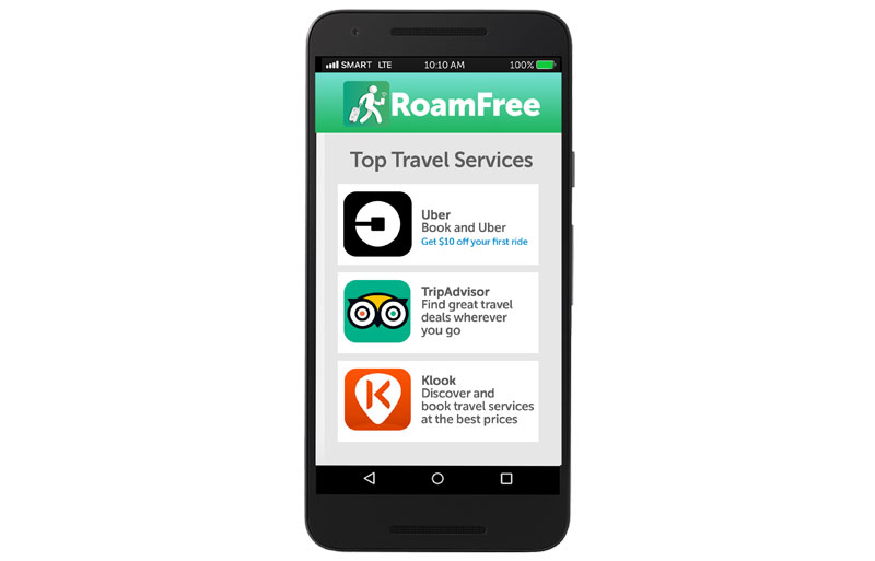 Connect to your favorite travel apps abroad for free with Smart s RoamFree app  2