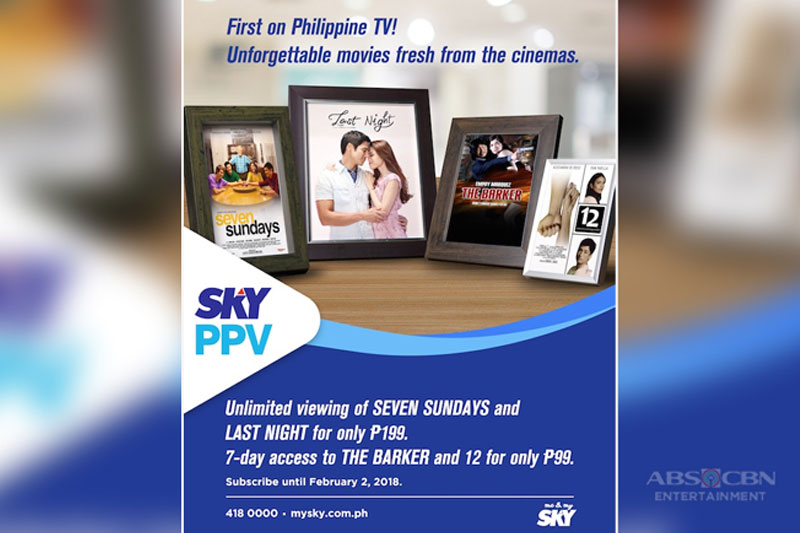 Welcome 2018 with Star Cinema s hit movies on SKY pay per view 1