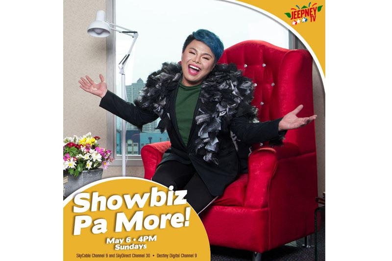 New talk show Showbiz Pa More brings fun fresh entertainment news on Jeepney TV 1