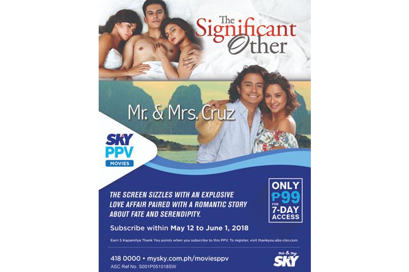 Mr and Mrs Cruz premieres on TV via SKY Movies PPV 1