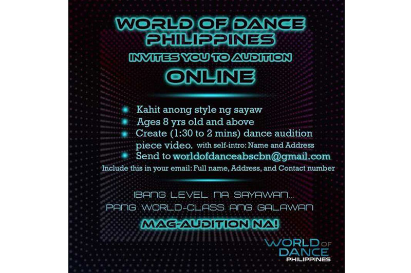 World of Dance Philippines on the look out for the best dancers in the country 1