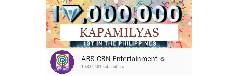 ABS CBN S YouTube channel first to reach 10M subscribers IN PH third in Southeast Asia 3
